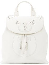 Hysteric Glamour Studded Bear Backpack White