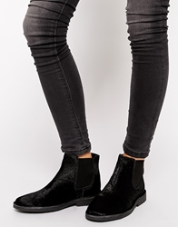 Selected Lulu Black Pony Hair Ankle Boots