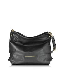 Francesco Biasia Jasmine Leather Hobo Bag Black