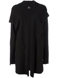 Lost And Found Ria Dunn Draped Open Cardigan Women Cotton Linen Flax Spandex Elastane Xs Black