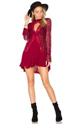 Free People New Tell Tale Lace Tunic Red