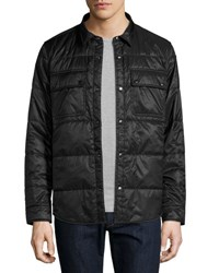 Burberry Harkstead Quilted Technical Shirt Jacket Black