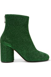 Maison Martin Margiela Textured Lame Ankle Boots Green