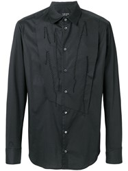 Tom Rebl Reconstructed Bib Shirt Black