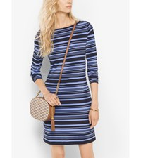 Striped Matte Jersey Dress
