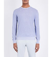 Lardini Crewneck Cotton Jumper Mid Blue