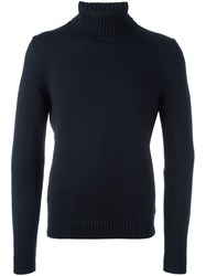 Zanone Turtleneck Jumper Blue