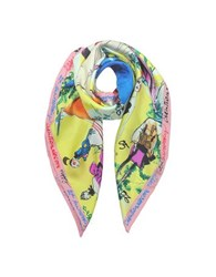 Christian Lacroix 20 Ans Pure Silk Womnen's Square Scarf Lime