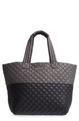 M Z Wallace Mz Large Metro Quilted Oxford Nylon Tote Black Black Magnet