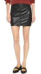 Blank Vegan Leather Miniskirt Instigator