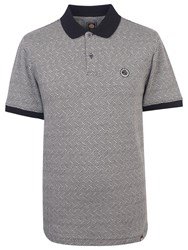 Pretty Green Belmont Short Sleeve Polo Top Black