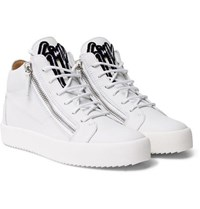 Giuseppe Zanotti Kriss Leather High Top Sneakers White