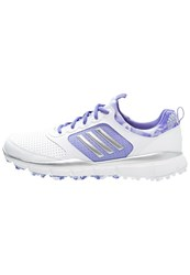 Adidas Golf Adistar Golf Shoes White Silver Metallic Baja Blue