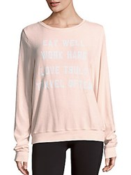 Wildfox Couture Mantra Graphic Text Sweater Blush