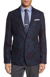 Ted Baker Men's London Florenc Floral One Button Blazer