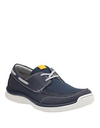 Clarks Marus Edge Lace Up Sneakers Navy