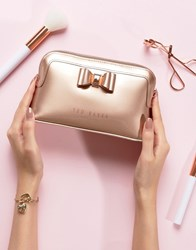 Ted Baker Bow Triangle Makeup Bag Gold