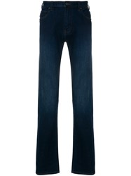 Emporio Armani Faded Straight Leg Jeans Blue