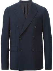 Jil Sander Double Breasted Blazer Blue