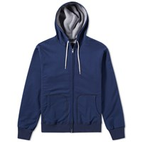 Beams Plus Double Face Zip Parka Blue