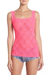 Women's Hanky Panky 'Signature Lace' Camisole Sizzle Pink