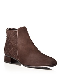 Aquatalia By Marvin K Aquatalia Weatherproof Lacey Quilted Suede Booties Espresso