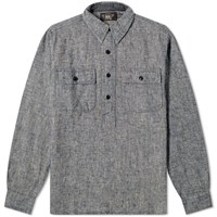 Rrl Popover Chambray Shirt Blue