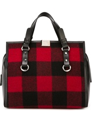Dsquared2 Gingham Check Tote
