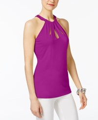 Inc International Concepts Cutout Halter Top Only At Macy's Magenta Flame