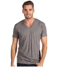 Alternative Apparel Perfect V Neck Oxford Grey Heather Men's T Shirt Gray