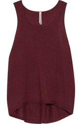 Soyer Luxe Cashmere Tank Burgundy