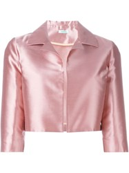P.A.R.O.S.H. Cropped Jacket Pink And Purple