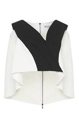 Maticevski Combination Cropped Blouse White