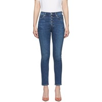 Citizens Of Humanity Blue Olivia Exposed Fly High Rise Slim Ankle Jeans