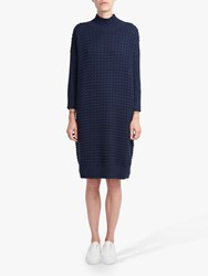 French Connection Popcorn Knit Dress Nocturnal
