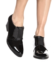 Pixie Market Block Heel Patent Loafers