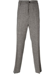 Golden Goose Deluxe Brand Houndstooth Trousers Brown