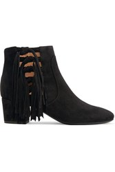 Laurence Dacade Roxter Tasseled Suede Ankle Boots Black