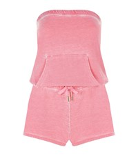 Juicy Couture Burnout Strapless Playsuit Female Salmon