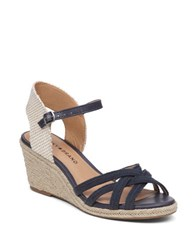 Lucky Brand Kalley3 Espadrille Wedge Sandals Blue