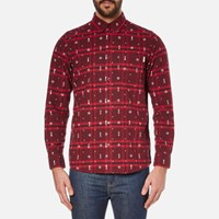 Carhartt Men's Long Sleeve Carlos Origin Shirt Carlos Check Chianti Red