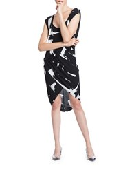 Tracy Reese Rayon Jersey Dress Coltrane Grey