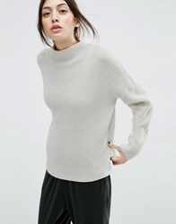 Asos Ultimate Chunky Jumper With High Neck Grey