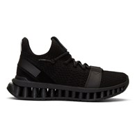 Z Zegna Black Techmerino A Maze Sneakers