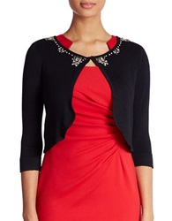 Eliza J Embellished Cardigan Black