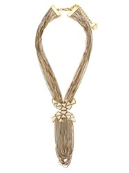 Camila Klein Multiple Chains Necklace Gold