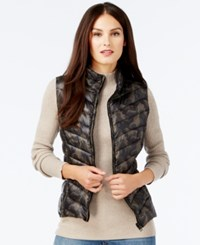 Inc International Concepts Reversible Puffer Vest Only At Macy's Glam Camo