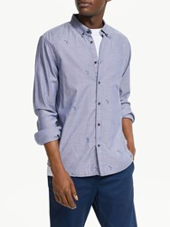 Scotch And Soda All Over Print Oxford Shirt Blue