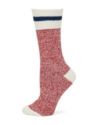Free People Stripe Crew Socks Red