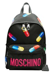 Moschino Printed Backpack Black